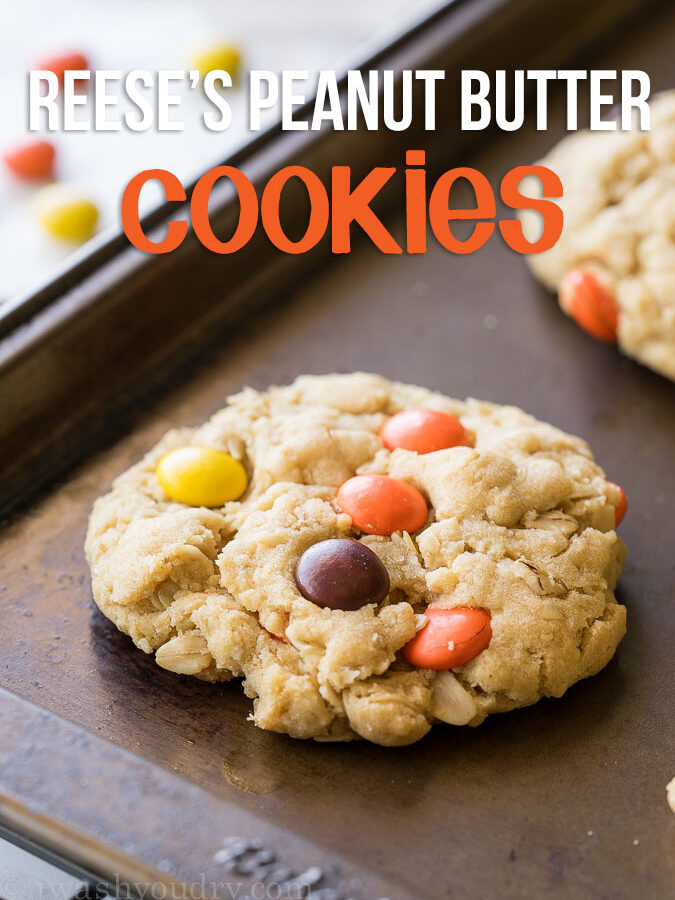 Reeses Peanut Butter Oatmeal Cookies