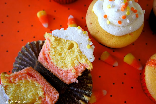 Candy Corn Cup Cakes
