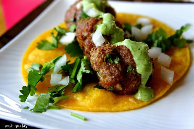 Mexican Meatball Street Tacos