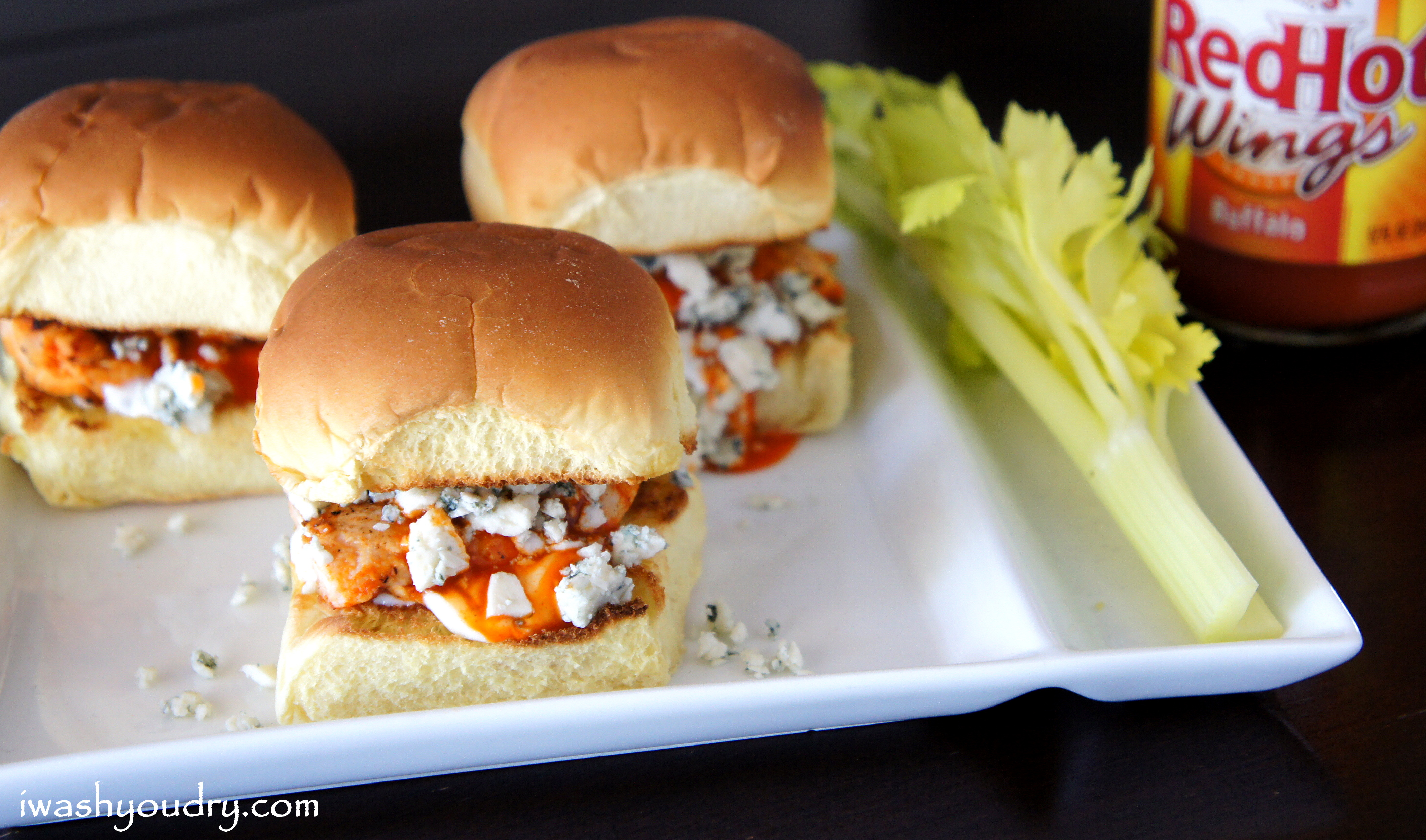 Buffalo Chicken and Blue Cheese Sliders
