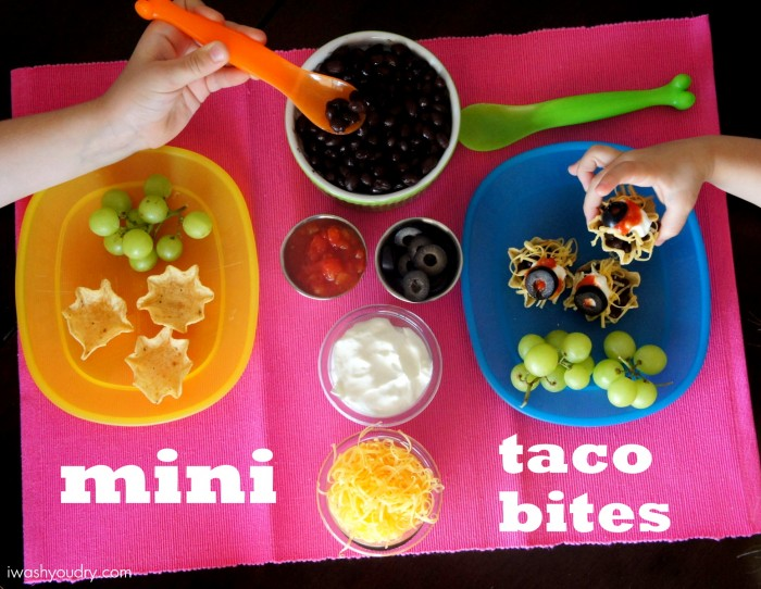 I'm loving these Mini Taco Bites for a quick kid's lunch!