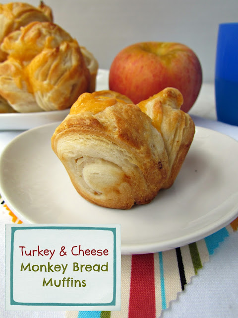 Turkey & Cheese Monkey Bread Muffins {Crazy for Crust}