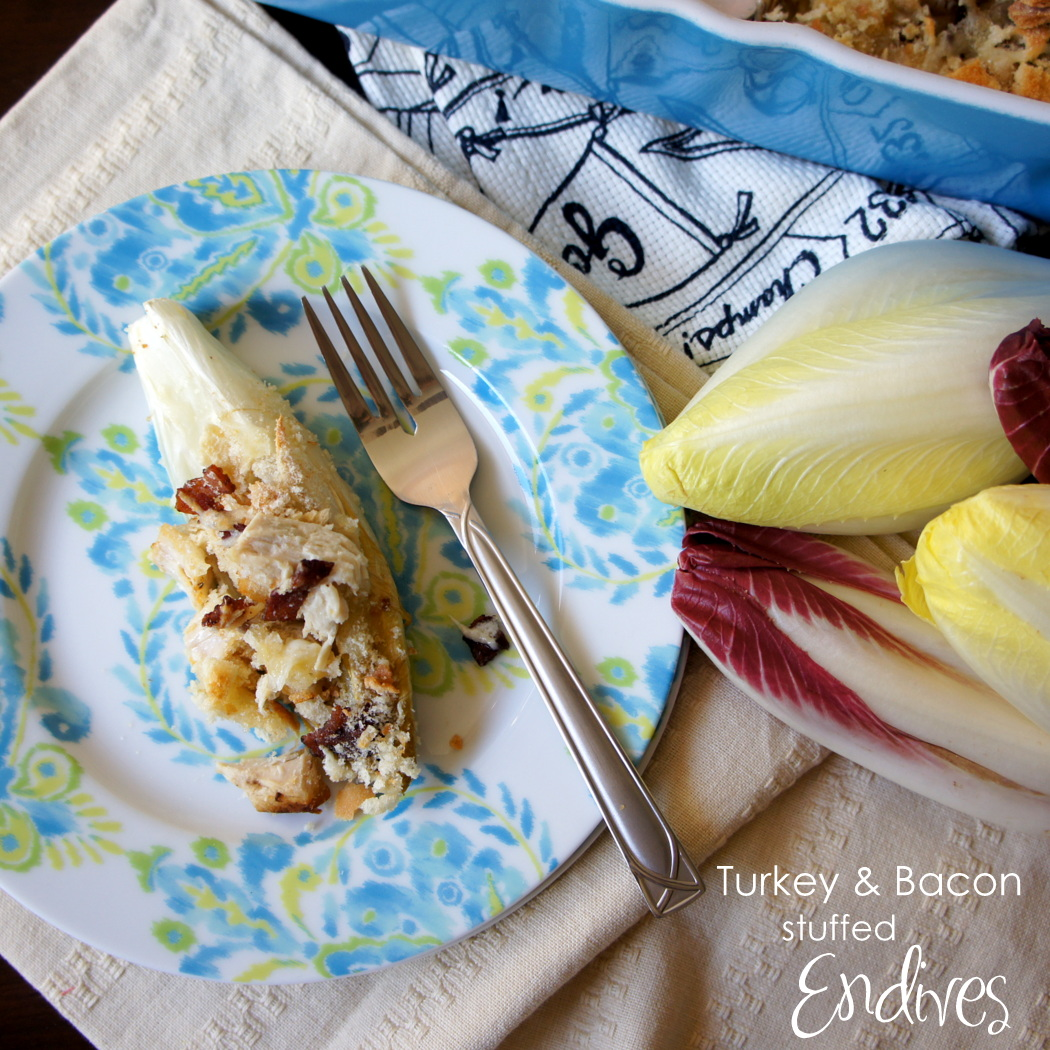 Turkey and Bacon Stuffed Endive