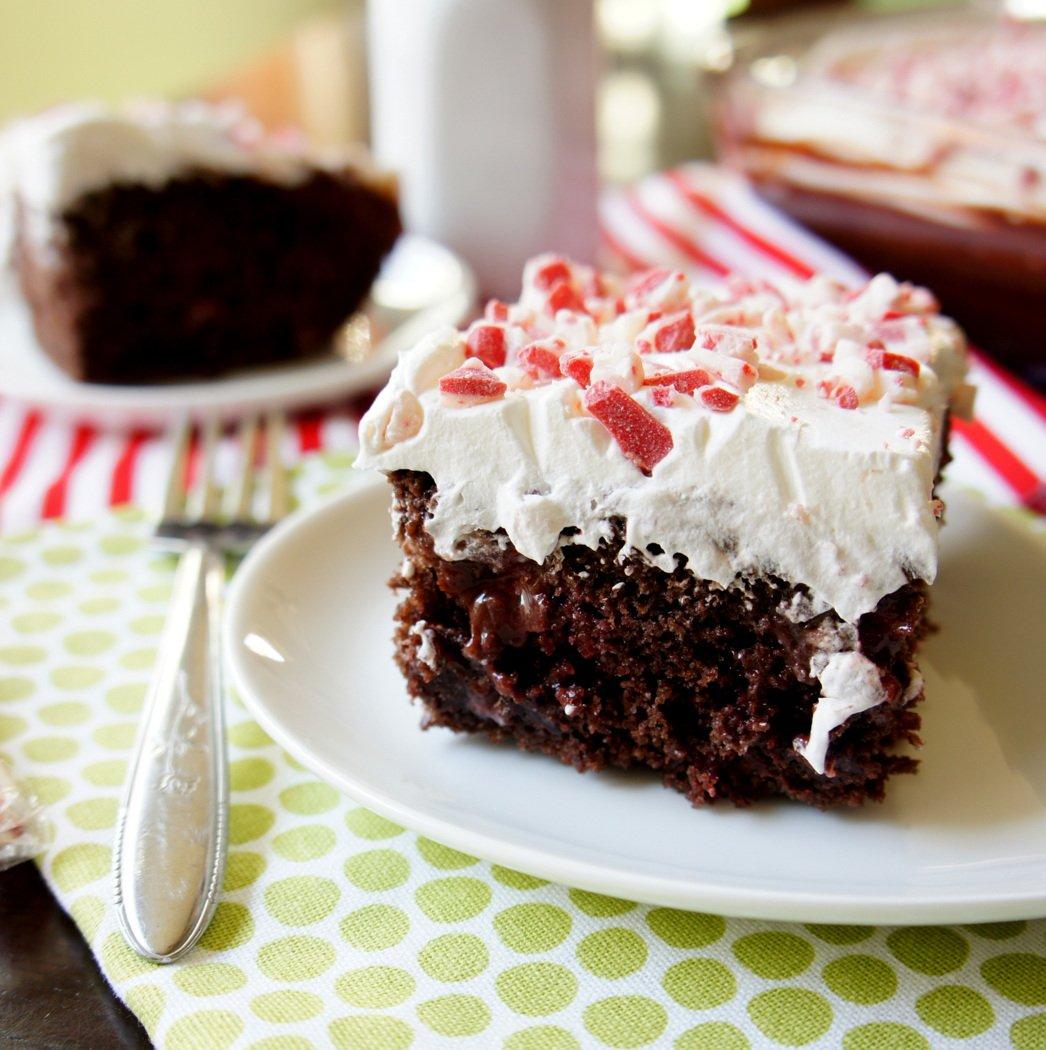 Peppermint Poke Cake