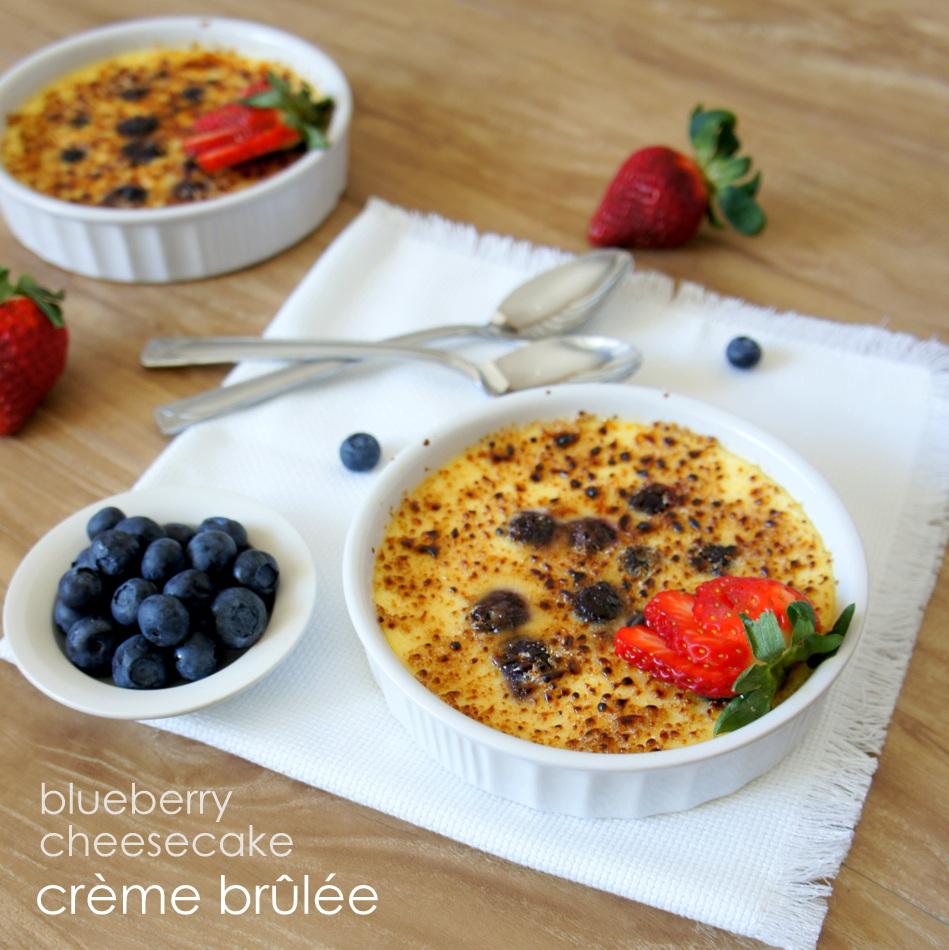 Blueberry Cheesecake Crème Brûlée