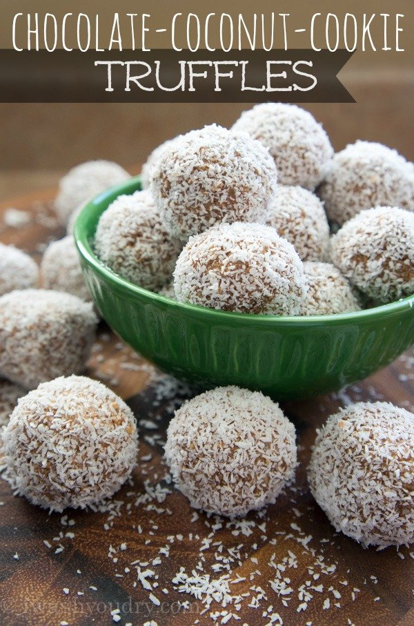 Chocolate Coconut Cookie Truffles