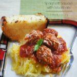Crock Pot Spaghetti Squash with Meatballs