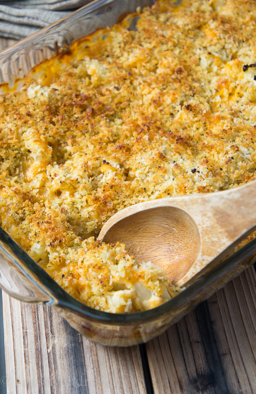 Cheesy Cauliflower Au Gratin