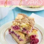 Gooey Raspberry Coffee Cake Bars