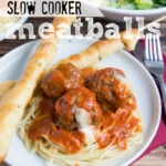 Cheesy Slow Cooker Meatballs