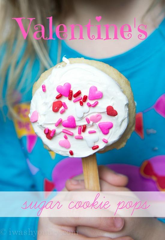 Valentine's Sugar Cookie Pops