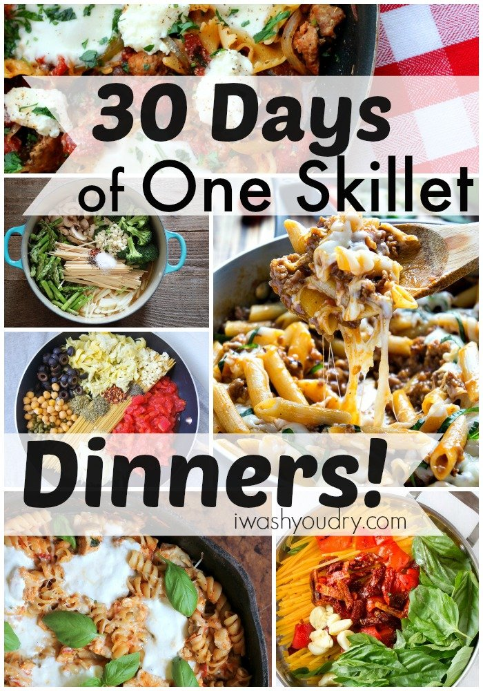 30 Days of One Skillet Dinner Recipes