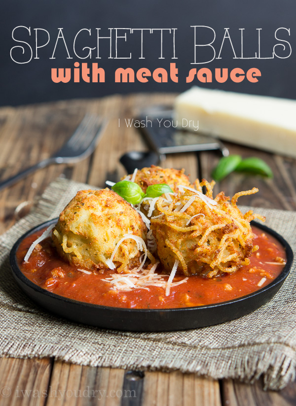 Spaghetti Balls with Meat Sauce