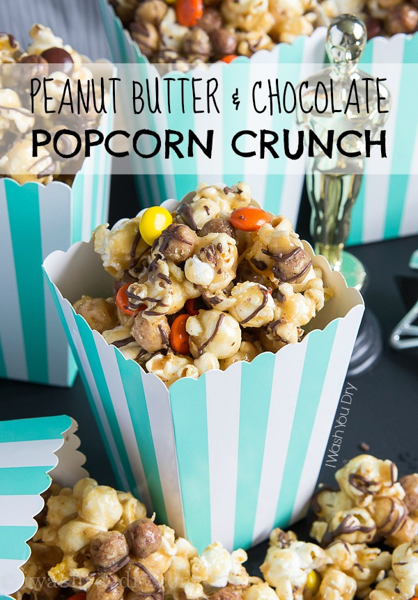 Peanut Butter and Chocolate Popcorn Crunch Mix