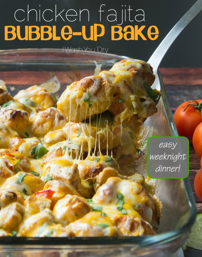 Chicken Fajita Bubble Up Bake!