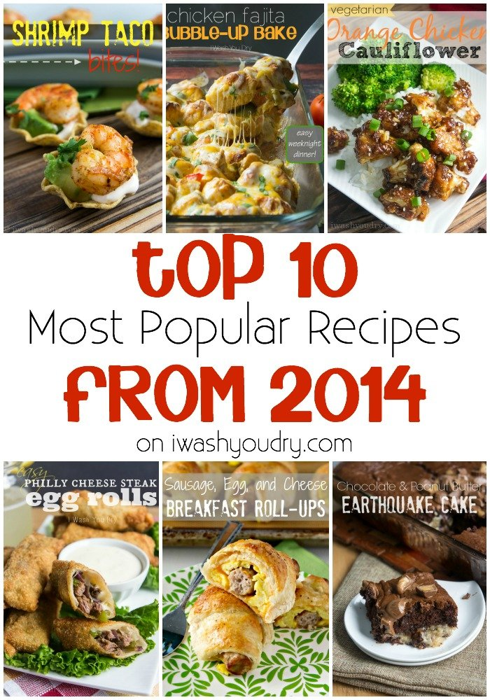 Top 10 Most Popular Recipes from 2014