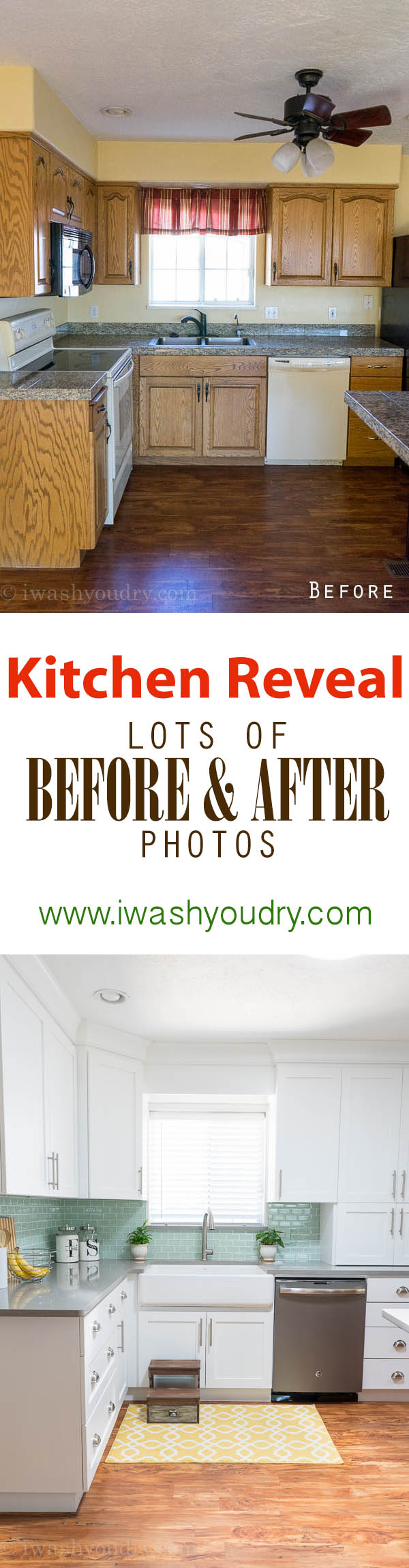 Amazing Before and After pictures of a Kitchen renovation!