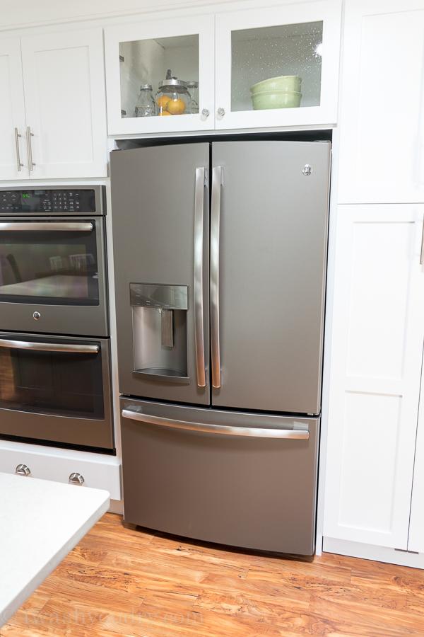 Slate color refrigerator by GE