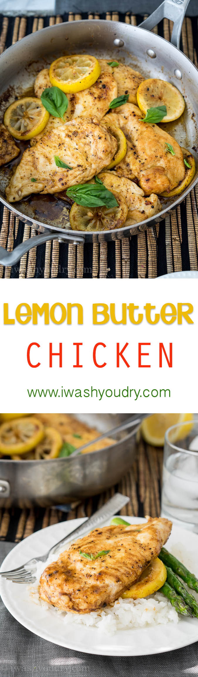 Quick and easy Lemon Butter Chicken Breasts only use 6 ingredients and one skillet!