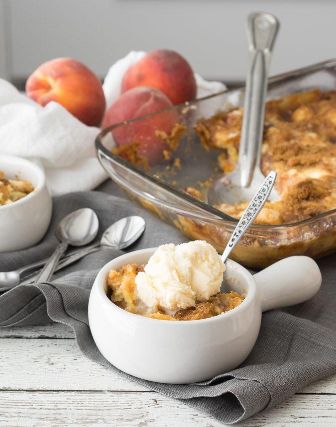 Peaches and Cream Dump Cake
