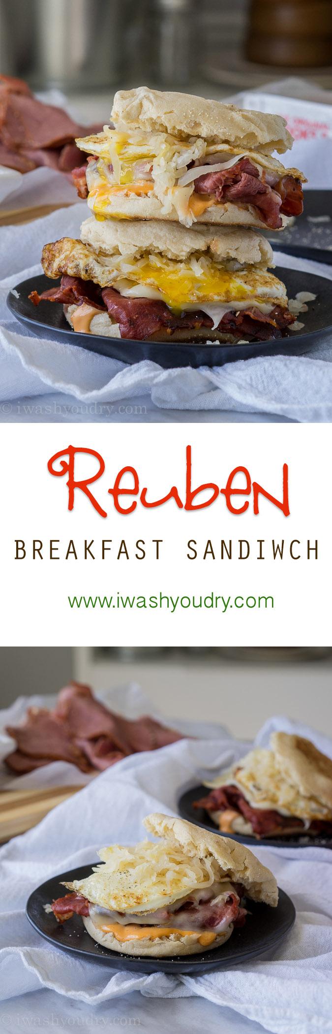 The Ultimate Reuben Breakfast Sandwich!!