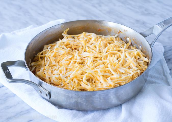 BBQ Chicken Pasta Skillet