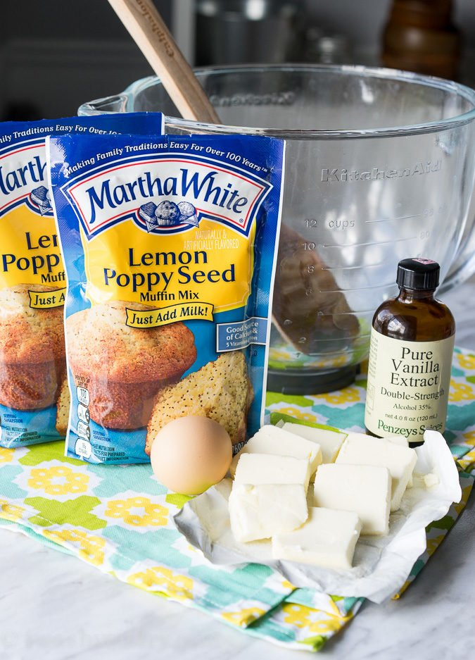 Lemon Poppy Seed Muffin Mix Cookies