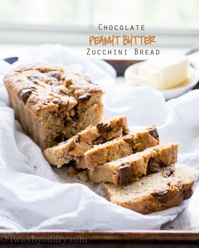 Chocolate Peanut Butter Cup Zucchini Bread