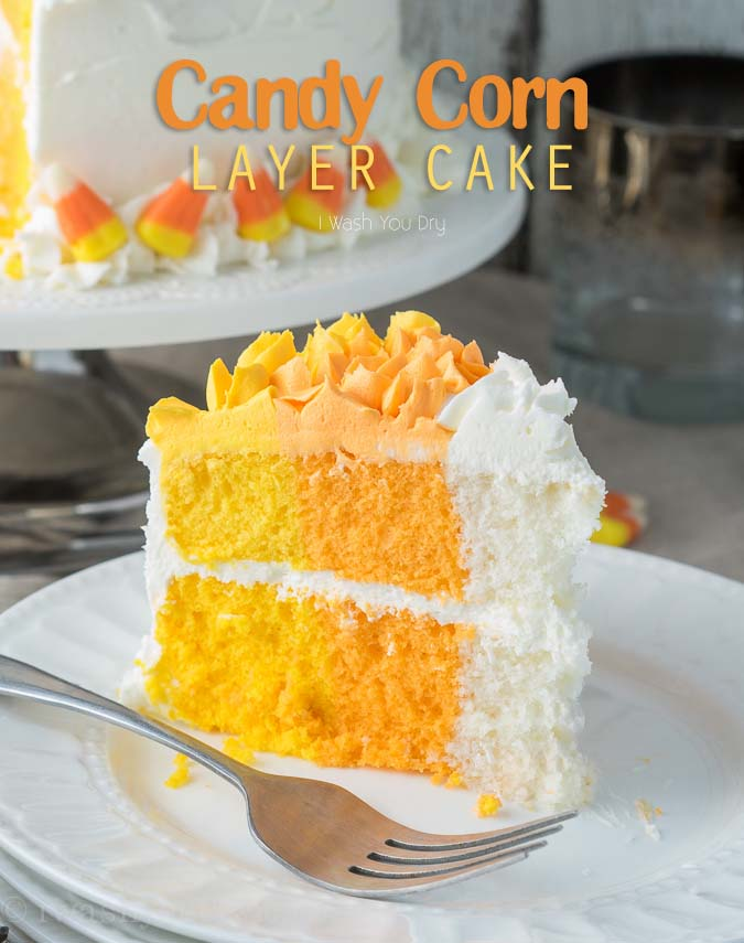 Candy Corn Layer Cake