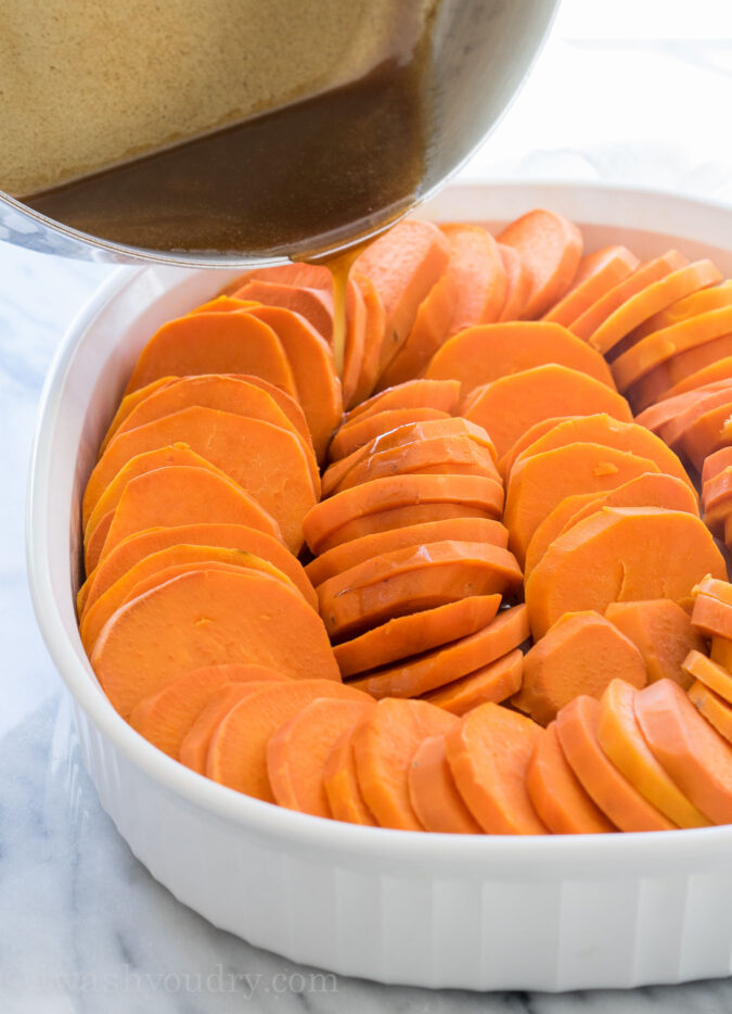 This No Boil Candied Sweet Potato Casserole Is A Crazy Simple Side Dish Recipe That S Perfect