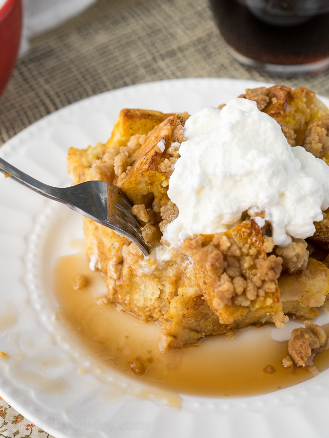Pumpkin French Toast Bake - I Wash You Dry
