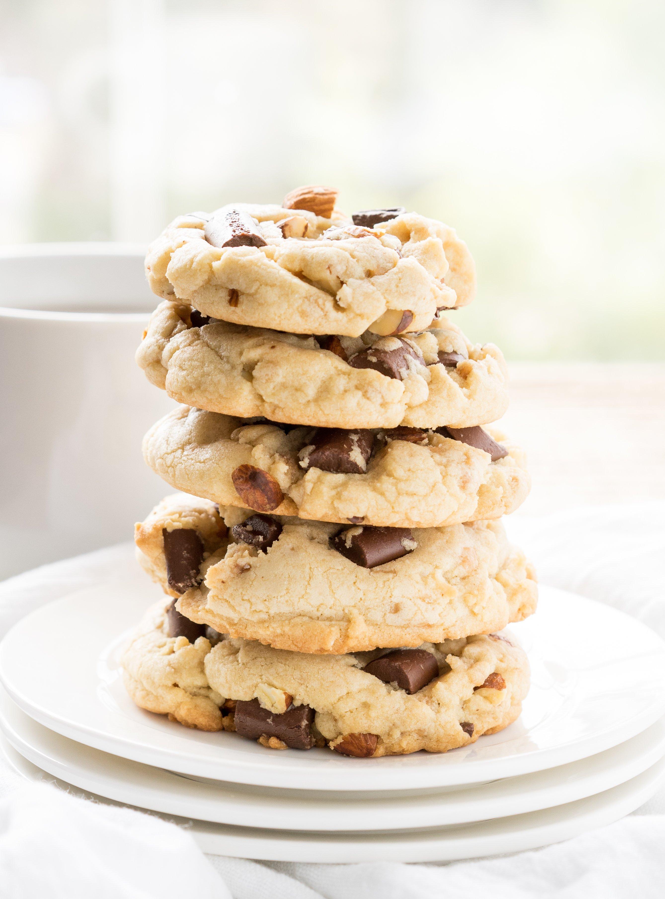 Almond Toffee Chocolate Chunk Cookies