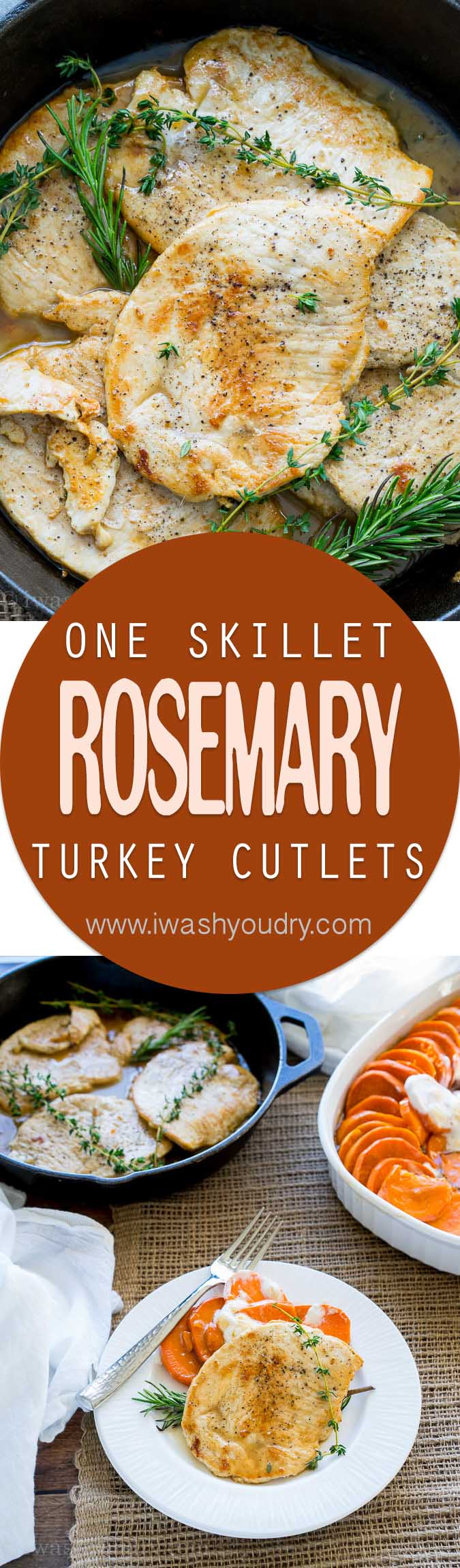I can't believe how quick these Rosemary and Thyme Turkey Breast Cutlets came together. My whole family loved these! I love how it uses just one skillet!