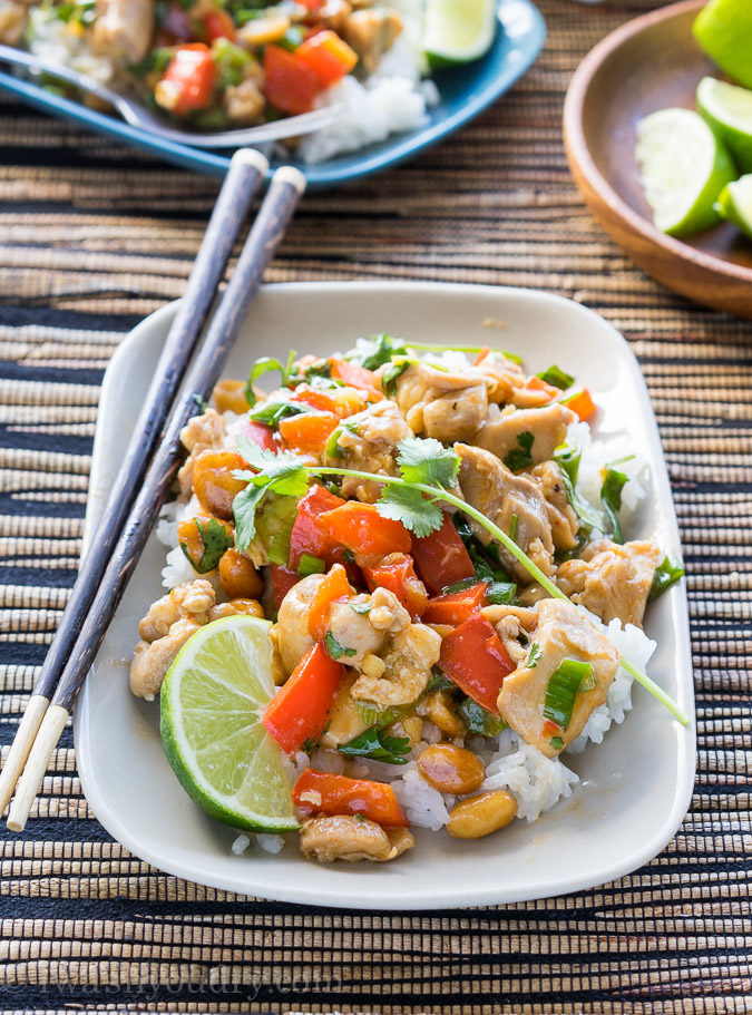 This Cilantro Chicken Stir Fry recipe is so delicious! My whole family loved it for a quick weeknight dinner!