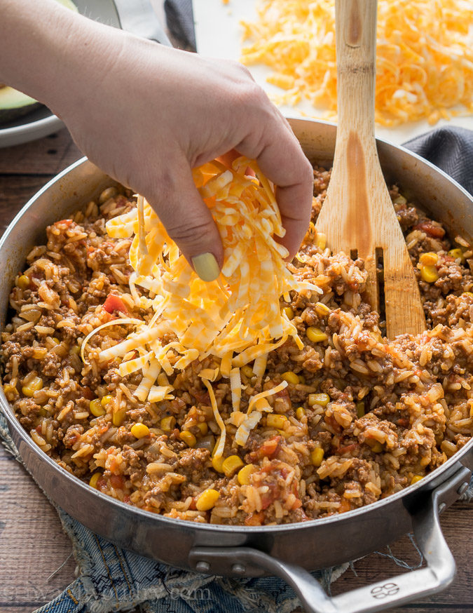 My Whole Family Loved This One Skillet Mexican Beef And Rice Dinner Recipe Super Quick