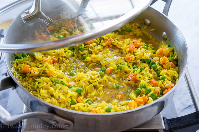 This Quick And Easy Vegetable Rice Pilaf Is A Homemade Version Of The Boxed Rice Variety