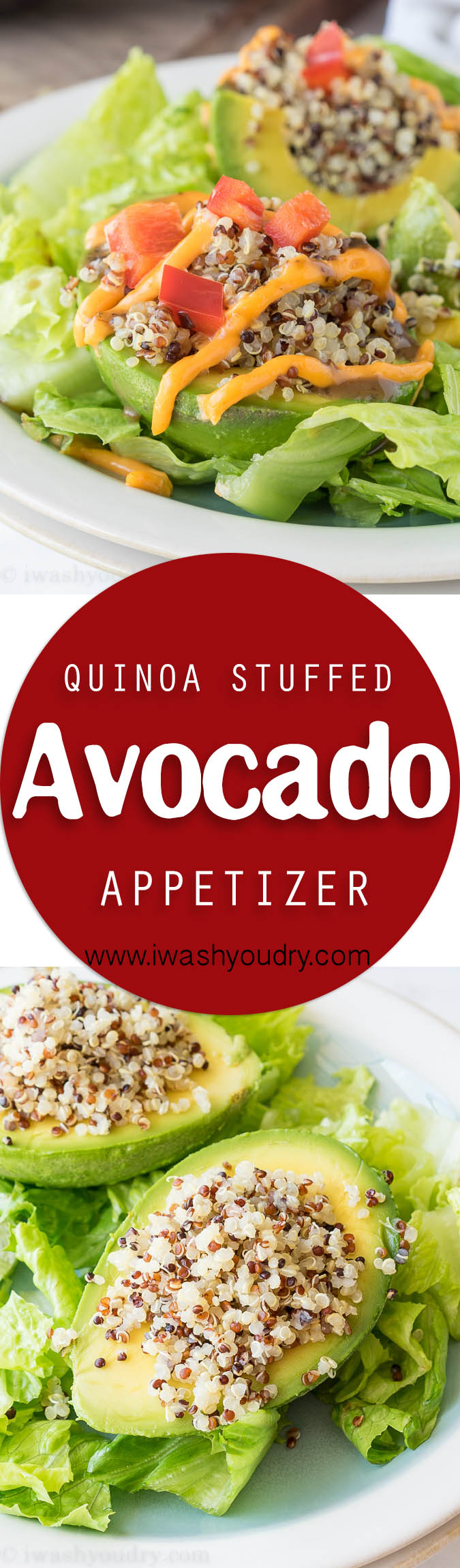 A couple weeks ago my husband and I went to lunch at a new place in town called Viva Chicken. It's a Peruvian restaurant that serves mainly chicken recipes, but also some killer wraps, salads and tasty appetizers like yucca fries and stuffed avocados. That's when I first tried their quinoa stuffed avocado and I was instantly hooked.