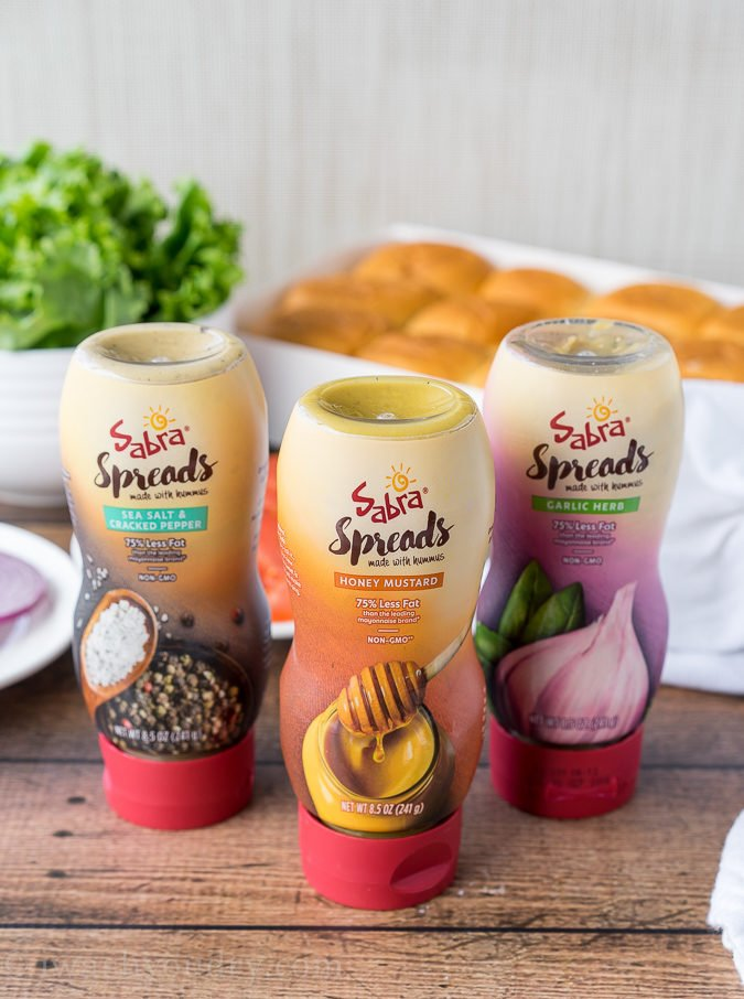 Sabra's new Spreads are made with hummus and come in three amazing flavors! Honey Mustard, Garlic and Herb and Salt and Pepper!