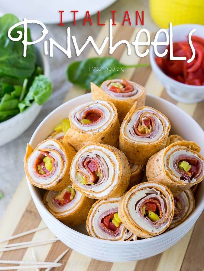 These super flavorful Spicy Italian Pinwheels are a fantastic appetizer or perfect for school lunches!