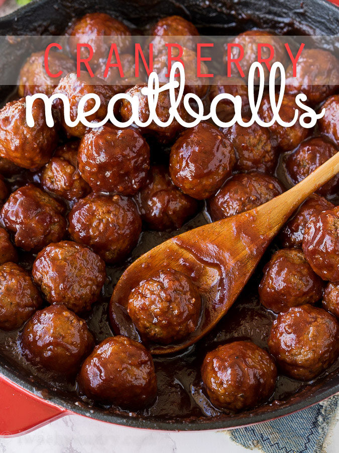 These Cranberry Meatballs with Sour Cream Herb Dip are super simple to make and are bursting with flavor! Perfect appetizer for this holiday season!