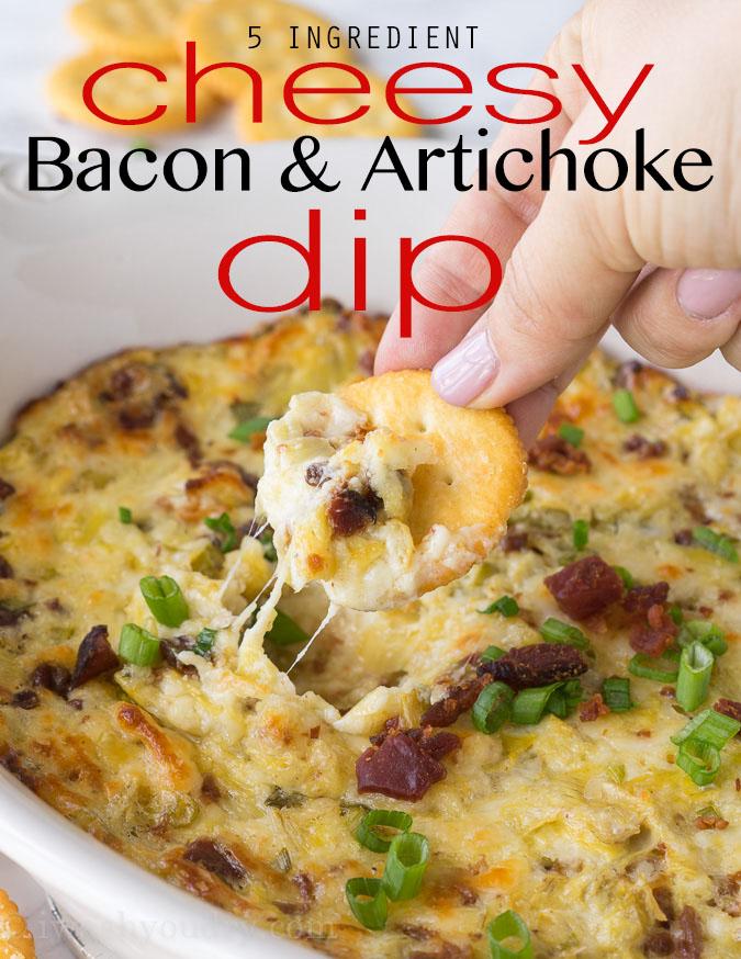 Cheesy Bacon Artichoke Dip