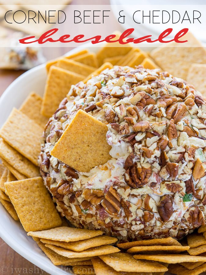 Corned Beef and Cheddar Cheeseball