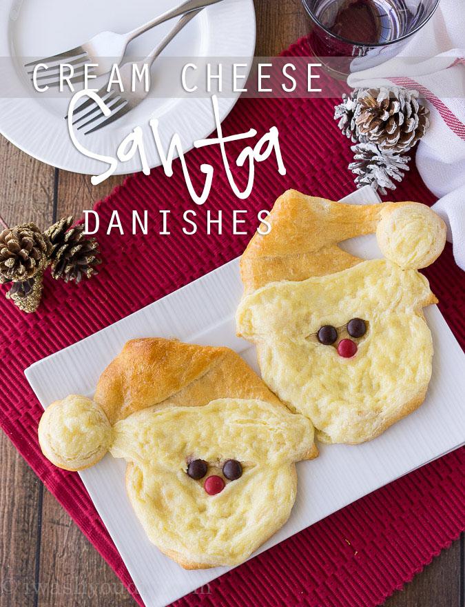 Cream Cheese Santa Danish