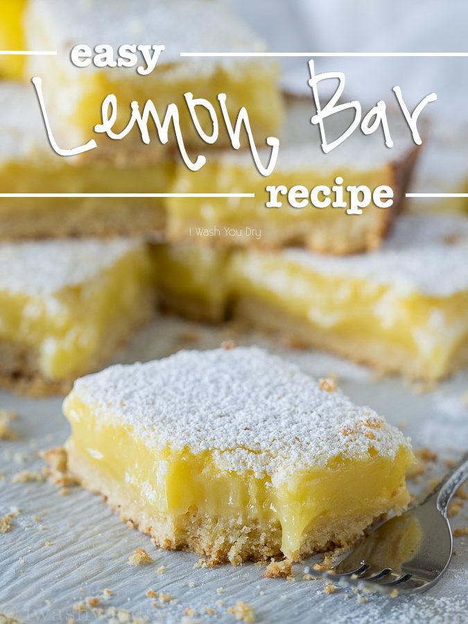 Easy Lemon Bar Recipe