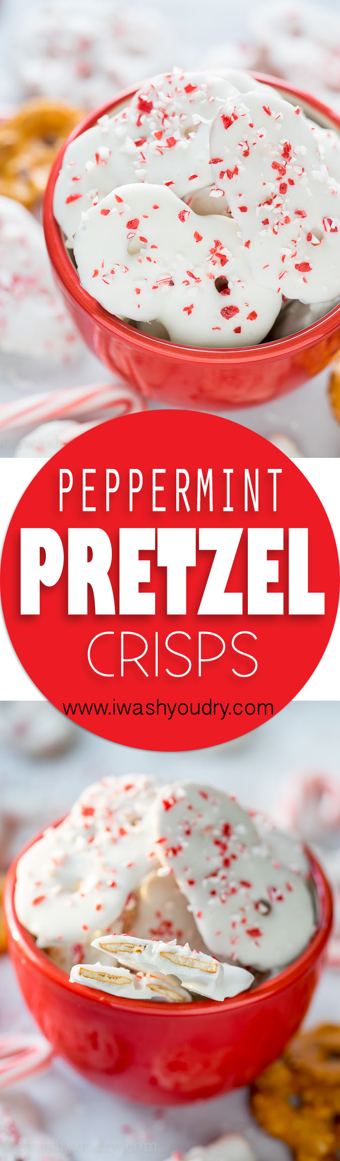 These super easy Peppermint Pretzel Crisps are a great treat for neighbors or for munching on during Christmas time!