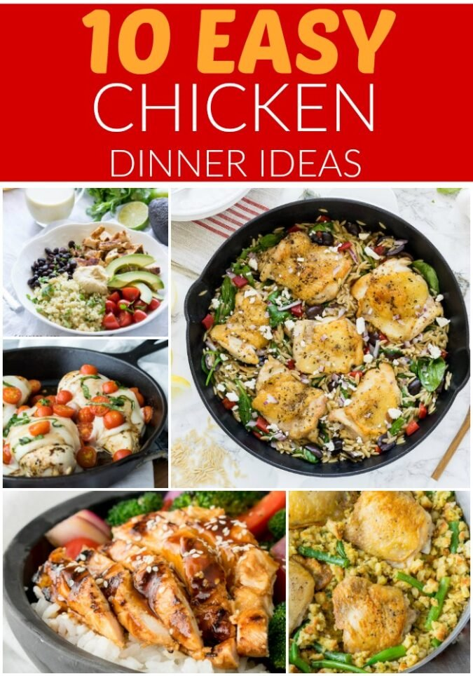 Whenever I'm needing dinner inspiration, I turn to these 10 Easy Chicken Dinner Ideas!