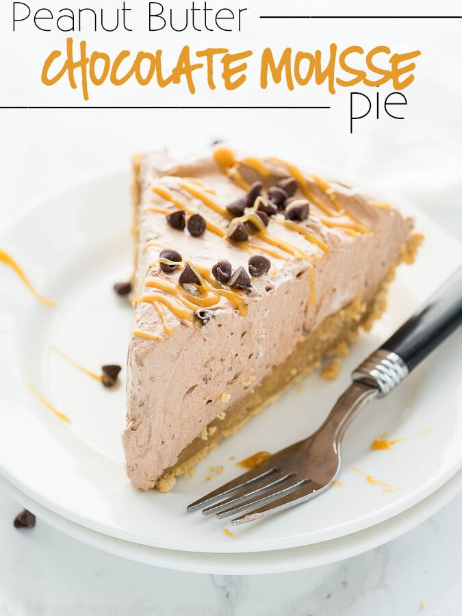 Peanut Butter Chocolate Mousse Pie