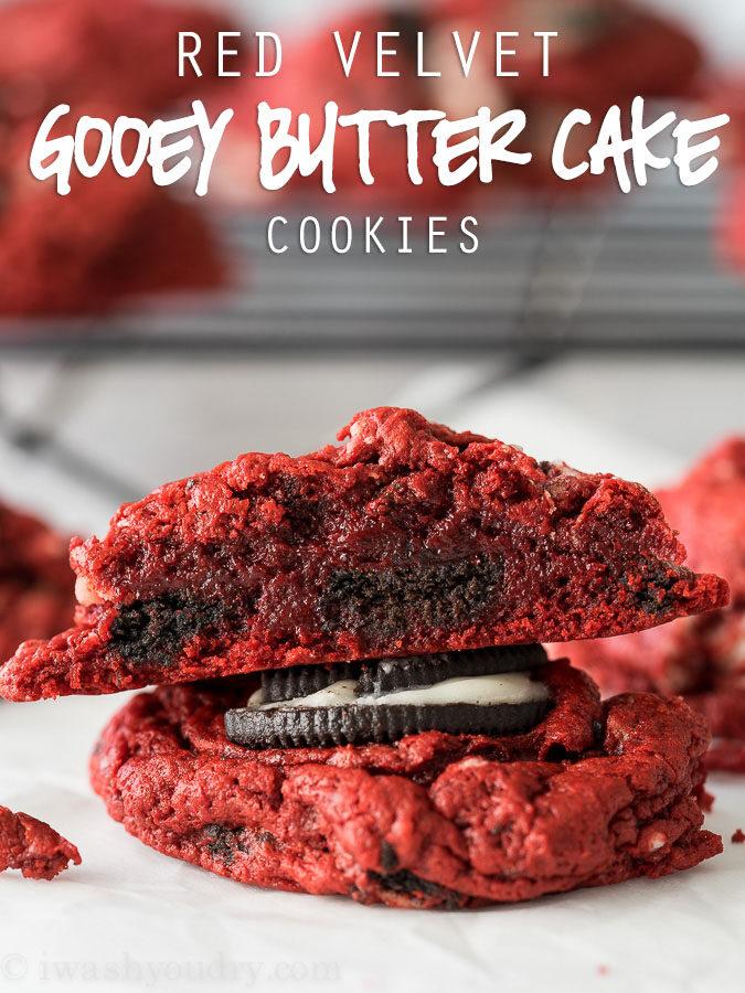 Red Velvet Oreo Gooey Butter Cake Cookies