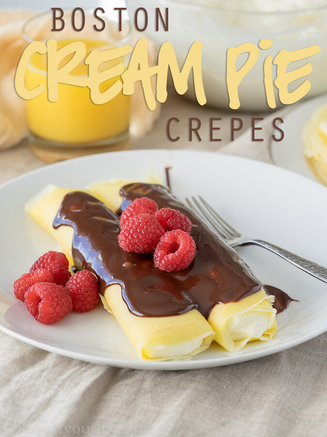 Boston Cream Pie Crepes