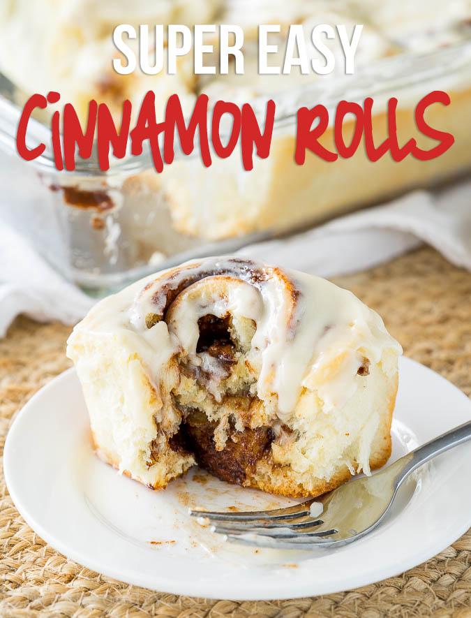 Super Easy Cinnamon Rolls Recipe
